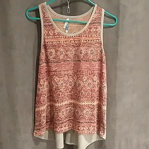 Red and grey racerback tank